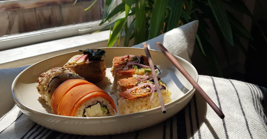Harken Coffee Plant-Based Sushi