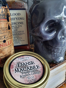 Danse Macabre Botanical Candle