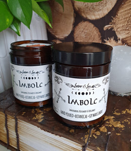 Imbolc Botanical Candle