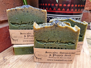 Avocado, Spearmint & Poppy Seed Soap