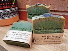 Load image into Gallery viewer, Avocado, Spearmint & Poppy Seed Soap