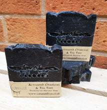 Load image into Gallery viewer, Activated Charcoal & Tea Tree Soap