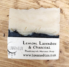 Load image into Gallery viewer, Lemon, Lavender & Charcoal Soap