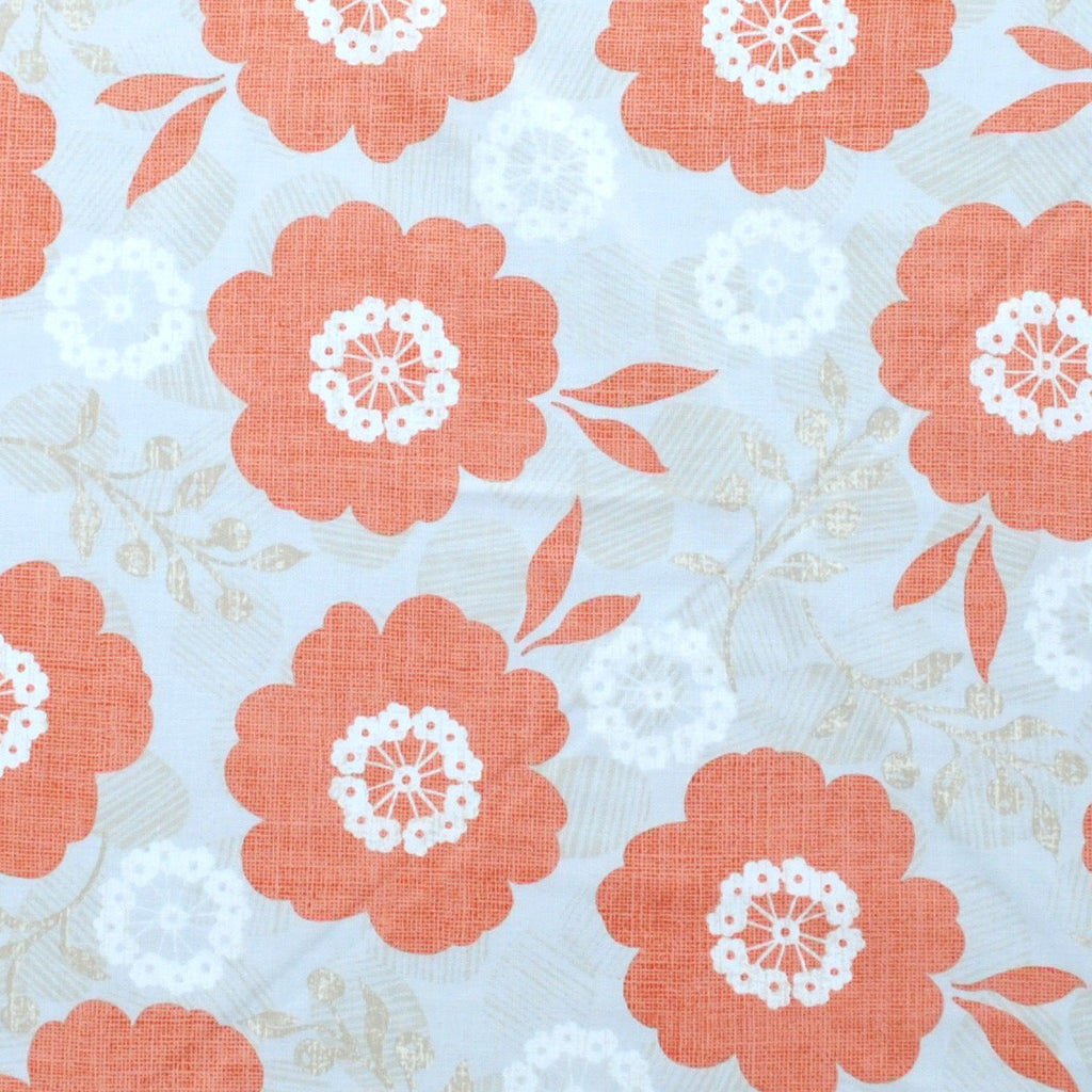 Light Coral, White and Grey Floral Toddler Pillowcase, 13X18