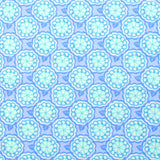 Lilac, Aqua, and Blue Flower Medallions and Wavy Lines Designer Cotton Nursery and Toddler Pillowcase Set of 2, 16x16