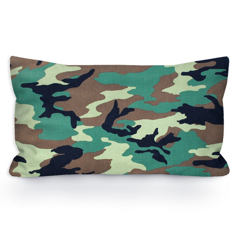 Traditional Green Camouflage Toddler Pillowcase, 13X18