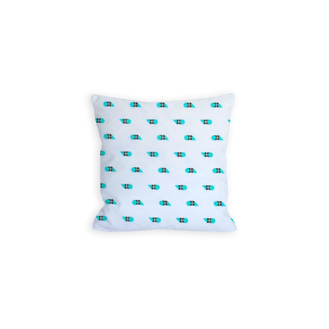 Blissfully Geometric Turquoise Pillow - LIL