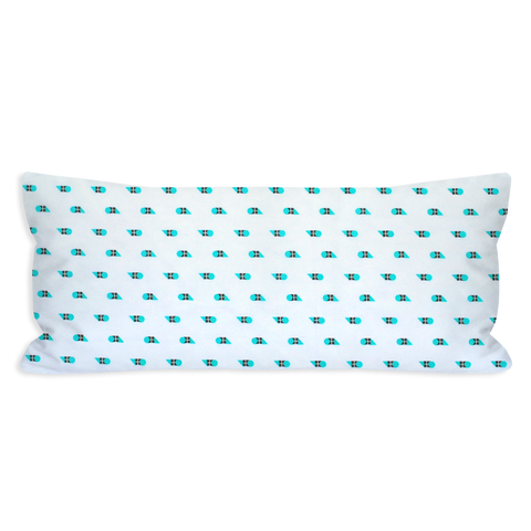 Blissfully Geometric Turquoise Lumbar Pillow