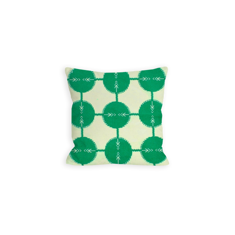Confident Green Abstract Dots Pillow - LIL
