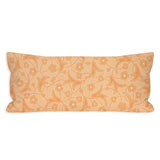 Light Apricot Floral Scroll Lumbar Pillow