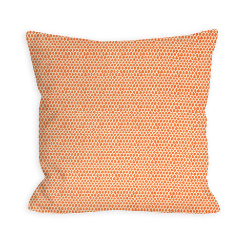 Tangerine Feathers Pillow