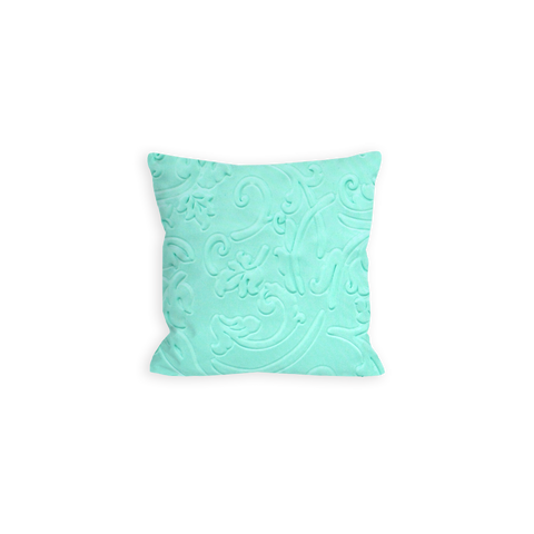 Delighted Floral Aquamarine Pillow - LIL