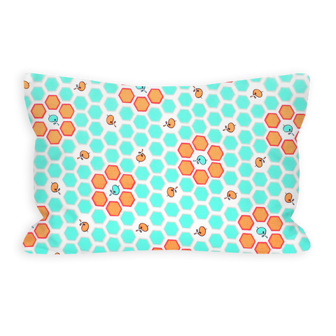 When the Moon Is In The Seventh House Aqua Toddler Pillow