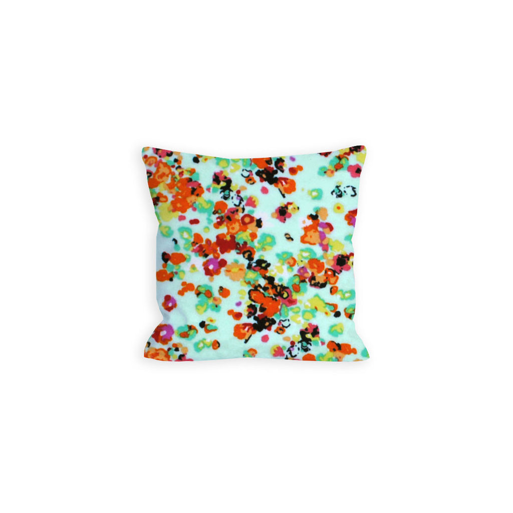 Aquamarine Jersey Pillow, Dramatic Floral - LIL