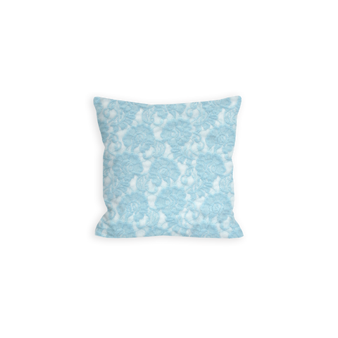Tranquil Lace Baby Blue Pillow - LIL