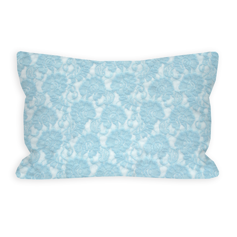 Tranquil Lace Baby Blue Toddler Pillow
