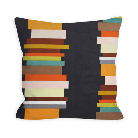 Hipster Librarian Slate Grey Pillow