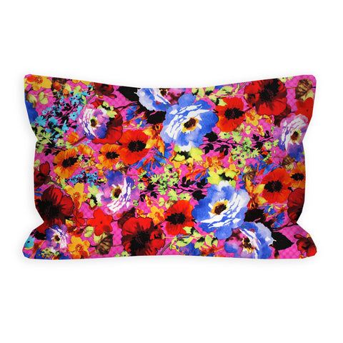 Brilliant Brights Floral Fuschia Toddler Pillow