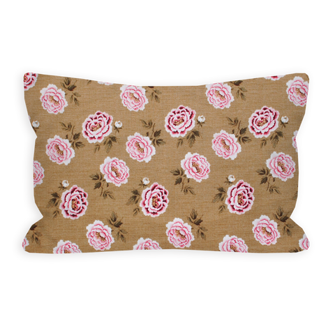 Lush Peonie Rose and Light Pink Toddler Pillow