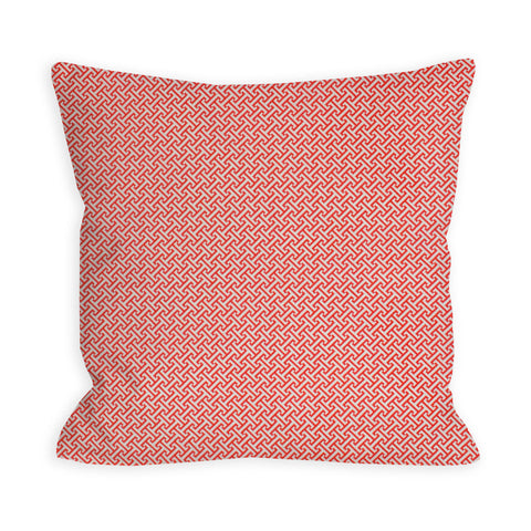Red Criss Cross Red Pillow