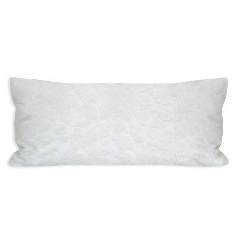 Angelic Lace Eggshell White Lumbar Pillow