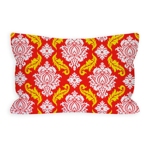 Saturated Red Damask Toddler Pillow