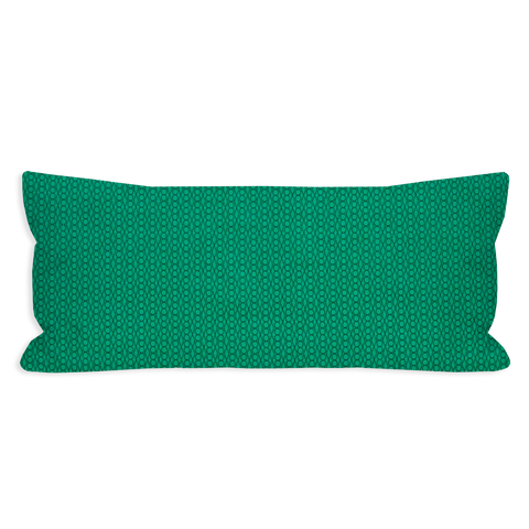 Lucky Geometric Emerald and True Green Lumbar Pillow