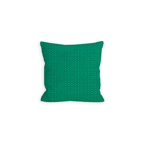 Lucky Geometric Emerald and True Green Pillow - LIL