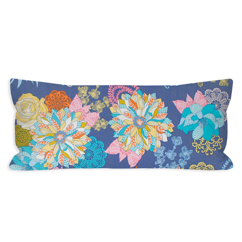 Funky Florals Dusty Purple Lumbar Pillow