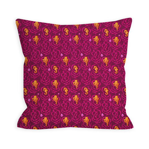Octo Love Fuchsia Pillow