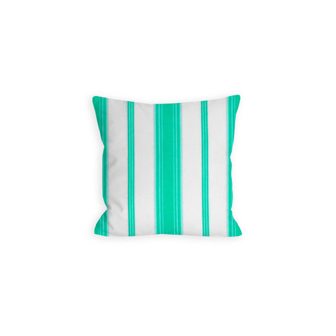 Preppy Paris Green Balanced White Stripe Pillow - LIL
