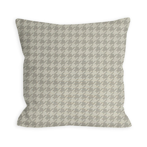 Grey Houndstooth Pillow