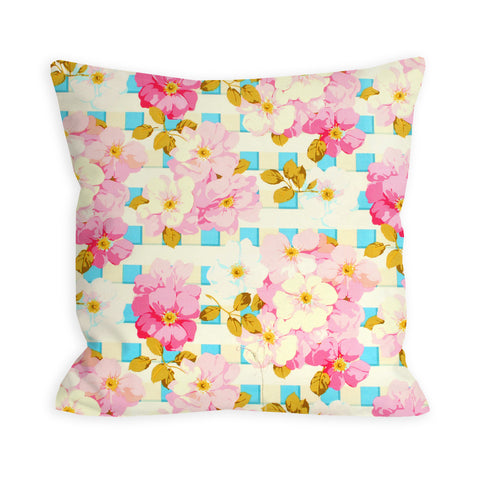 Floral Picket Fence Pillow