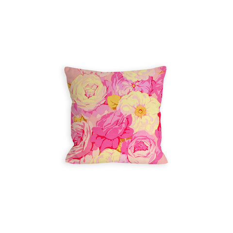 Hot Pink Peony Bouquet Pillow - LIL