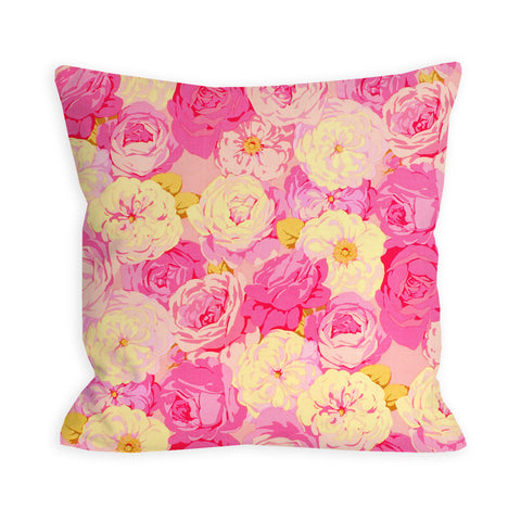 Hot Pink Peony Bouquet Pillow