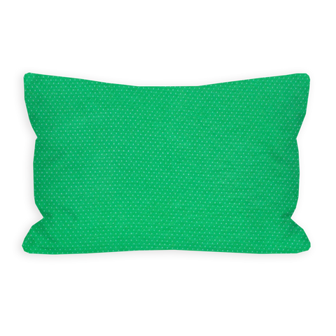 Coveting Kelly Green and White Pin Dot Toddler Pillow