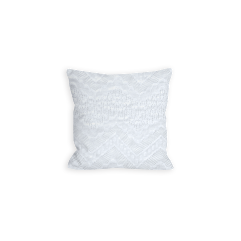 Coraline's Flawless Chevron Lace Bright White Pillow - LIL