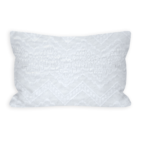 Coraline's Chevron Lace Bright White Toddler Pillow