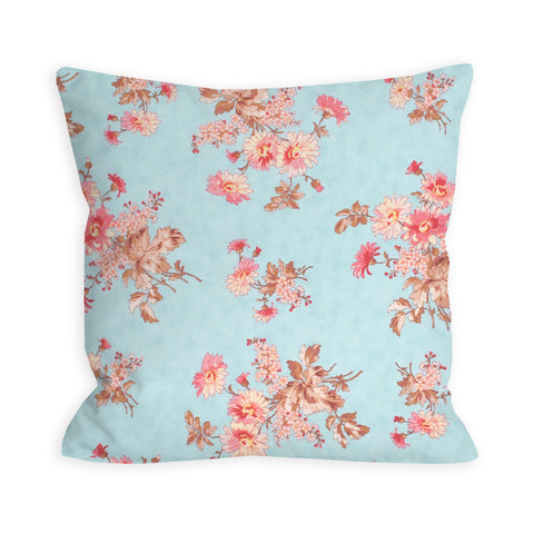 Wildflower Light Blue Pillow