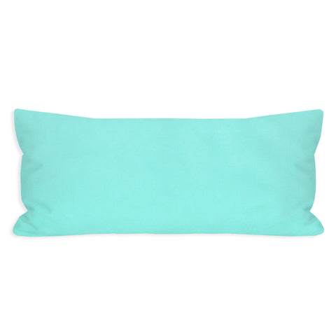 Happiest Solid Light Turquoise Lumbar Pillow