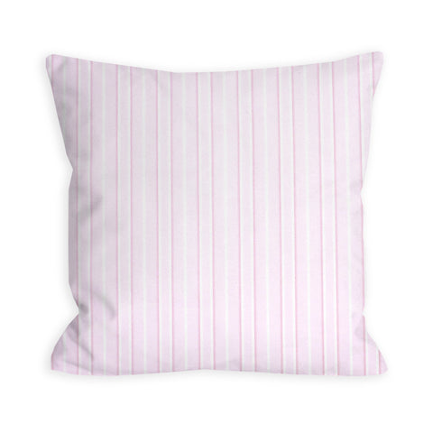 Barely There Pink Stripe Print Pillow