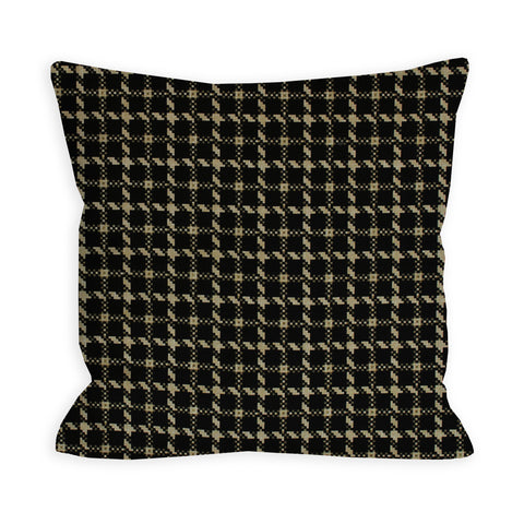Houndstooth Black and Tan Pillow