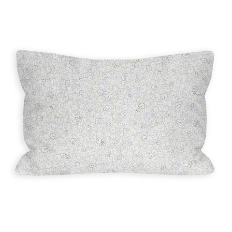 Mini White Leaves Toddler Pillow