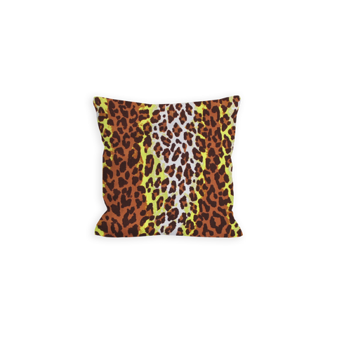 Wild Leopard Citron and Sienna Brown Pillow - LIL