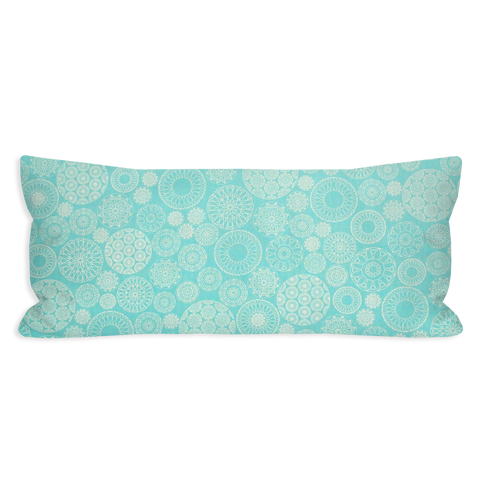 Pleased Modern Abstract Sea Green Lumbar Pillow
