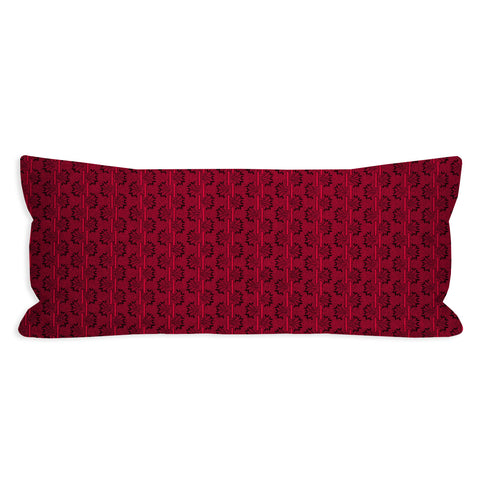 Black and Red Reproduction Lumbar Pillow
