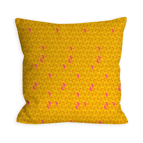Hold Your Yellow Seahorses Pillow