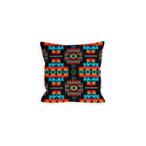 Indian Summer Tribal Black Pillow - LIL
