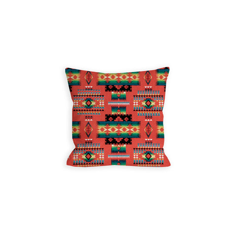 Indian Summer Tribal Red Pillow - LIL