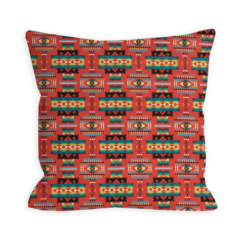 Indian Summer Tribal Red Pillow